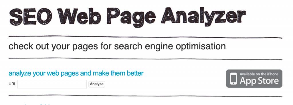 seo-web page analyzer